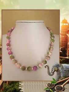 UNIQUE NATURAL GREEN PERSIAN JADE BEADED HANDMADE NECKLACE JEWELLERY @ JAY WOLFE