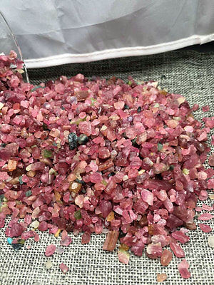 5kg Red tourmaline gravel polishing degaussing stone fish tank decoration