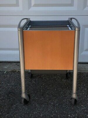 Mobile File Cabinet Organizer Portable Rolling Cart Office Heavy Duty Used