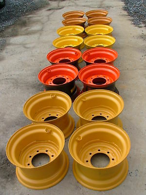 4 New Skid Steer Rims For 12-16.5 Tires - 16.5x9.75x 8 - Fits 12x16.5 Tires