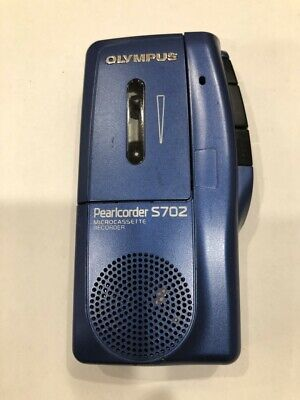 Olympus Pearlcorder S702 Handheld Microcassette Voice Recorder Blue