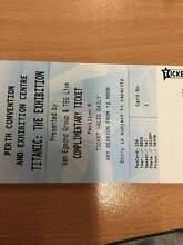 4 Adult Tix to Titanic Exhibition Perth Convention Centre Waterford South Perth Area Preview