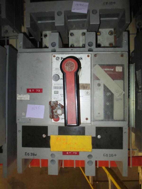 Ge Powerbreak Tpvf5616 1600a 3p 600v Mo/fm Circuit Breaker W/ I Used E-ok