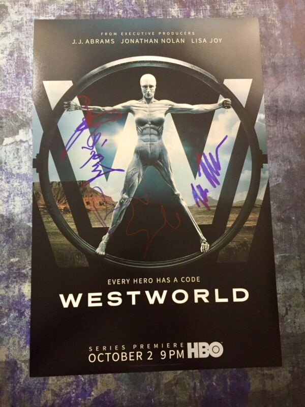 GFA Tessa Thompson Rodrigo * WESTWORLD * Cast x3 Signed 12x18 Photo AD1 COA