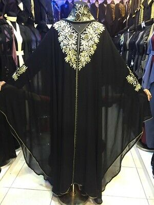 Latest Design  Dubai Abaya Style Kaftan Farasha  Maxi Dress Abaya Open Front