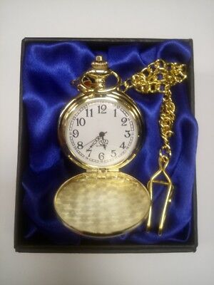 Personalised Gold Plated Pocket Watch - FREE ENGRAVING