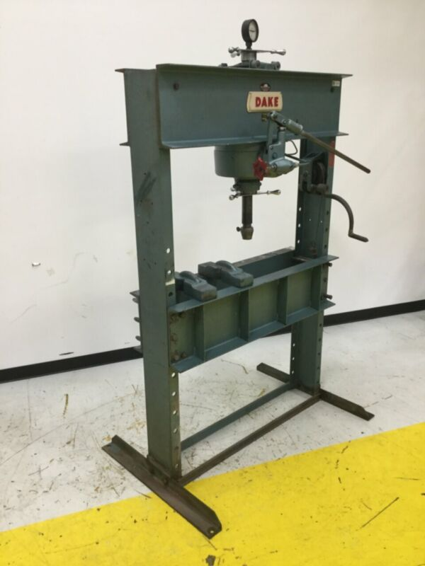 DAKE 75 Ton Hand Operated Hydraulic Press 75H Used #115386