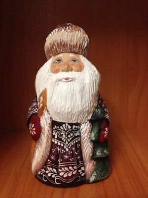 Russian Santa Small  with Christmas tree Gift traditional decor Collection