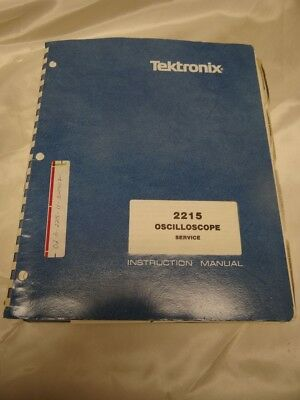 Tektronix 2215 Oscilloscope Service Instruction Manual