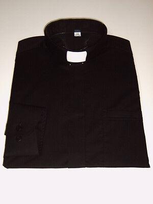 Priester, Collar, Priesterhemd, Collarhemd, schwarz, langarm, alle Größen
