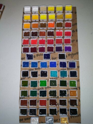 """QOR Watercolor """"SAMPLE SET ONLY"""" 78 Colors + Free Turner Watercolor Sample Set"""