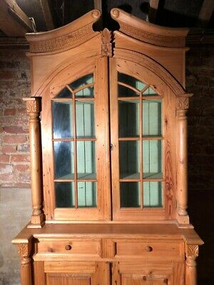 Antique Dutch Pine Kitchen Armoire larder