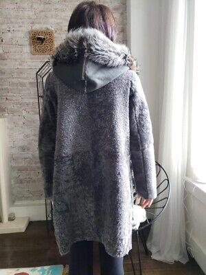Yves Salomon Shearling coat. Gray. Broadtail lamb. Worn twice.