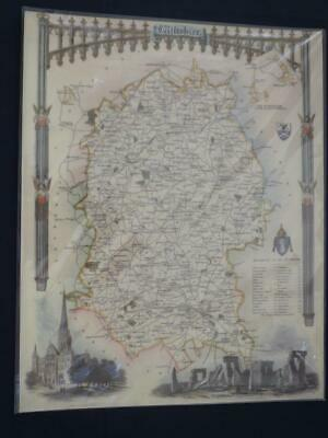 Reproduction Antique Map of Wiltshire16 x 20 inches.