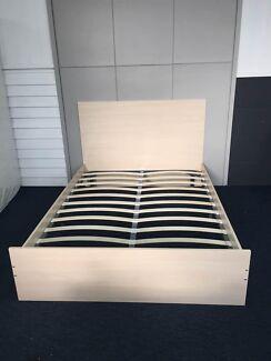 Brand New Wooden Cream Bed Frame Elegant Style
