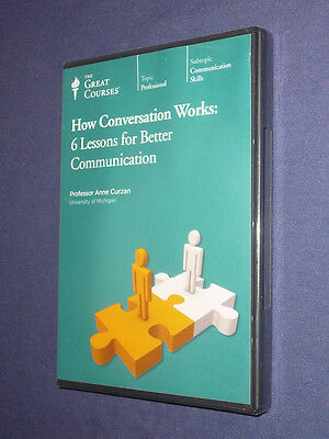 Teaching Co Great Courses  CDs            HOW CONVERSATION WORKS    new & sealed