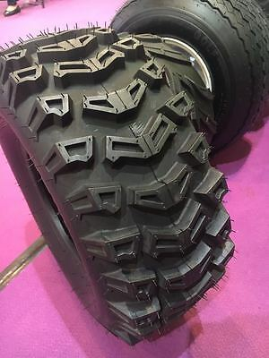 2 New 13x5.00-6 Rib Tires on John Deere Zero Turn AM138762 Front Wheel J-10