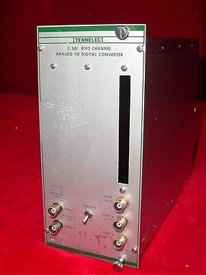 Tennelec Tc 501 8192 Channel Analog To Digital Converter Nim Bin Plug-in Module