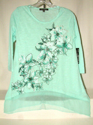 """#4222 BEAUTIFUL 3/4 SLEEVE BLOUSE FROM AVA & GRACE,SIZE PXS*(TAGGED PS) 34"""" BUST"""
