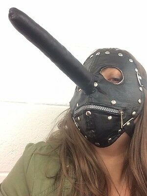 Slipknot Style Chris Fehn Lange Nase Maske Reißverschluss Stoff (Reißverschluss Maske Kostüm)