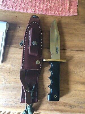 RANDALL MODEL 15 AIRMAN CUSTOM KNIFE BLACK MICARTA HANDLE