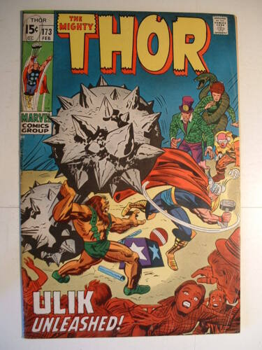 Thor #173 - Marvel 1970 - Ulik the Troll: Angry Circus Freak!