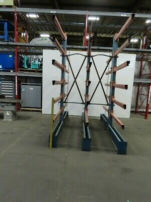 9 X 6 Wide X 10 Tall Double Sided Cantilever Steel Storage Rack