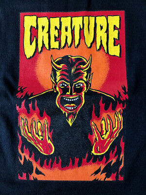 Vintage Creature Skateboard T-shirt Black Large New Without Tags