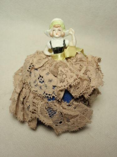 Vintage Small Dutch Girl Half Doll Pin Cushion