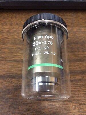 Nikon Plan Apo 20X  75 1 0 Wd Microscope Objective Dic N2