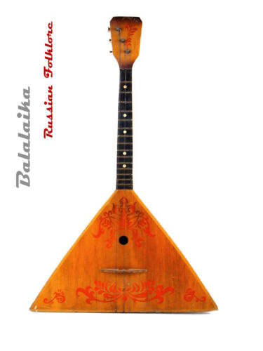 Russian National folk folklore instrument BALALAIKA LENINGRAD - 3  string  PRIMA