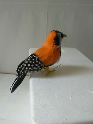 mini cute orange feathers Zebra Finch bird foam&feathers pearl bird about 12cm