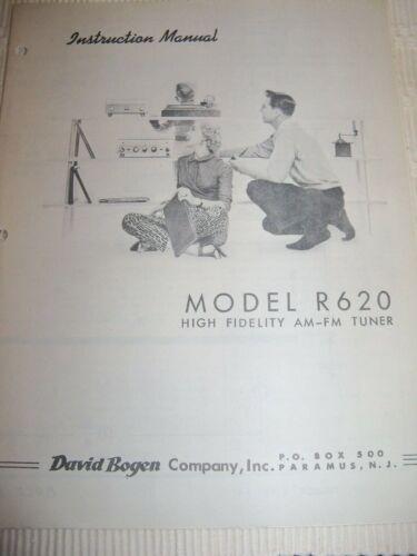 BOGEN MODEL R620 INSTRUCTIONS NICE!