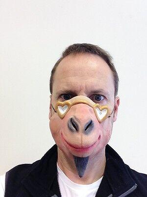 lustig halbes Gesicht Verliebte Ziege Maske mit Bart Latex