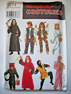 Child cat ninja hippy baby wizard costume pattern 8874 size 3 4 5 6 7 8 - Cat Ninja Costume