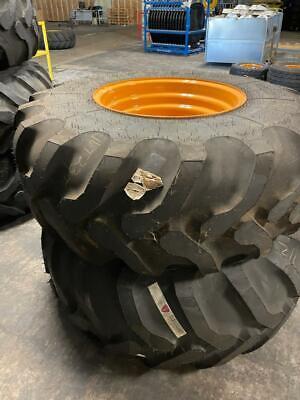 21lx24 10ply Goodyear Tirewheel Assy Mounted On Case Backhoe Wheel