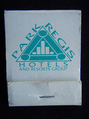 Park Regis Hotels And Resorts Group 1800 074393 Matchbook