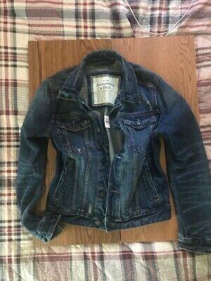 New Abercombie & Fitch Denim Jean Jacket Men Man Size Small S