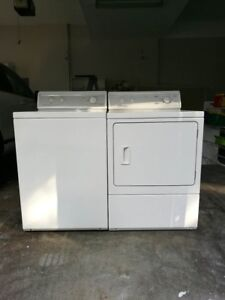 80% new Amana washing machine and dryer sell for a low price