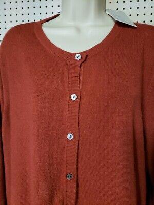 Womens Croft & Barrow Extra Cozy Cardigan button Sweater NEW Rust Long Sleeve 3X (Womens Cozy Cardigan)