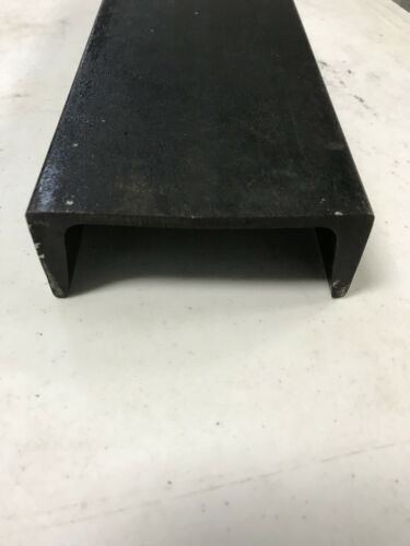 """(2pc) 4""""  INCH STEEL CHANNEL IRON 12"""" INCHES LONG 5.4 lbs per ft Weldable"""