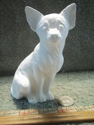 Sitting Chihuahua Dog Ceramic Bisque U-Paint Ready To Paint  Chihuahuas Dogs