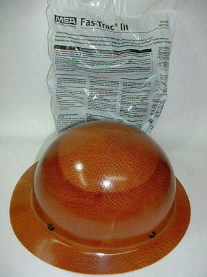 New Msa 475407 Natural Tan Skullgard Hard Hat W Fas-trac Iii Suspension Safety