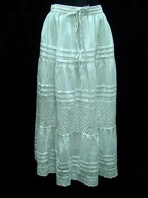 Skirt Petticoat slip lined 100% cotton boho style sizes S - XL elastic waist new