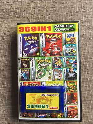 369 in 1 Games for Game Boy Advance SP NDS Pokemon Multicart US