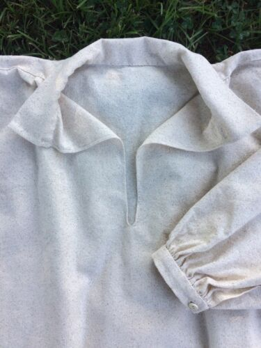 Hand Stitched Colonial Shirt with gussets18th Century cotton Rev War Reenactment