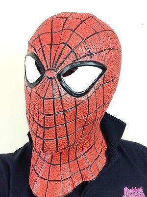 Superheld Spinne Latex Maske mit Kapuze Netz Schwinger Man Superheldenkostüm