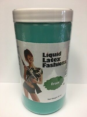 Green Liquid Latex Body Paint 32 Ounces by Liquid Latex Fashions](Green Bodypaint)