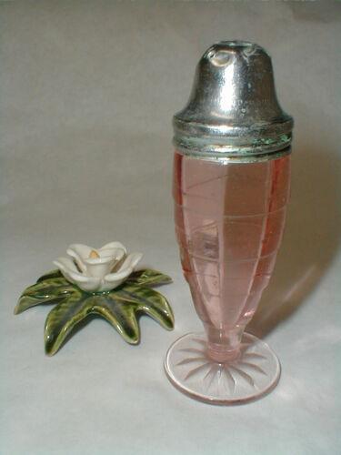 Anchor Hocking Pink Depression Glass BLOCK OPTIC Salt or Pepper Shaker