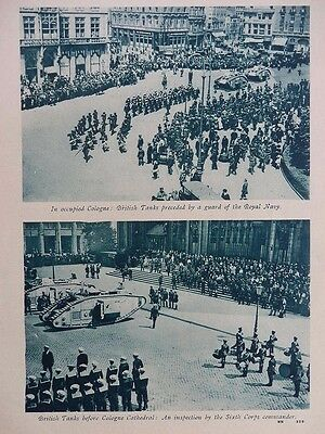 1919 BRITISH TANKS IN OCCUPIED COLOGNE; GERMAN TRENCH STOVE DUMP NAMUR WW1 WWI